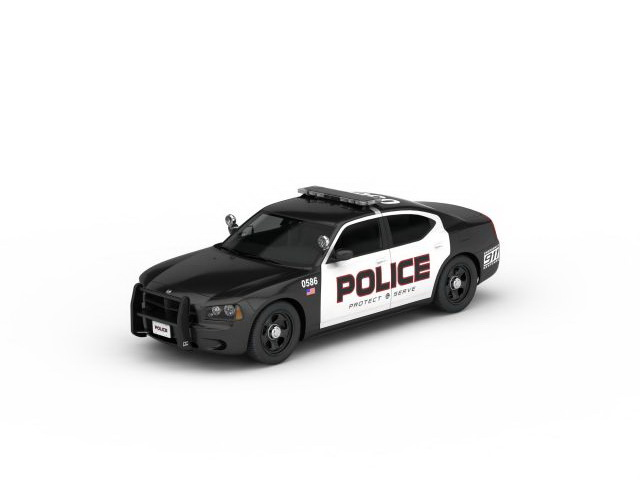 Us Police Car 3d Model 3ds Max Files Free Download Modeling 30245