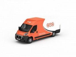 Courier Van 3d model