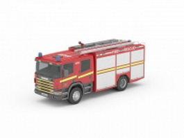 Fire rescue truck 3d model