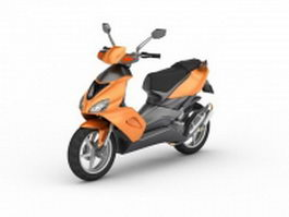 Moped bike 3d model