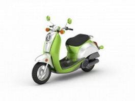 Green moped 3d model