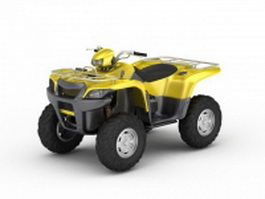 Yellow ATV 3d model
