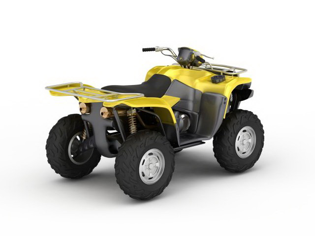 Yellow Atv 3d Model 3ds Max Files Free Download Modeling