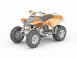 Orange ATV 3d model