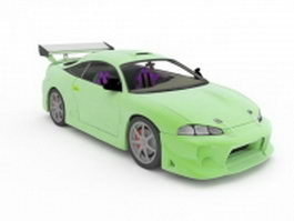 Touring car 3d model