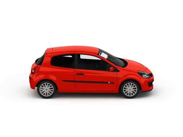 Renault Clio 3d Model 3ds Max Files Free Download
