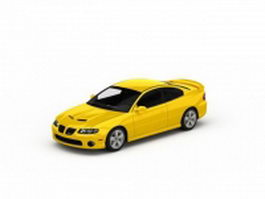 Pontiac GTO coupe 3d model