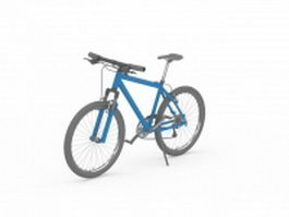 Blue mountain bicycle 3d model