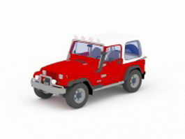 Jeep 2 door unlimited 3d model