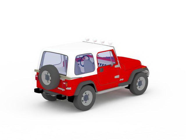 Jeep 2 Door Unlimited 3d Model 3ds Max Files Free Download