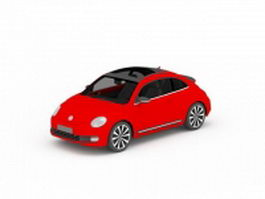 Volkswagen beetle red 3d model