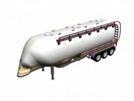 Fuel tank trailer 3d model