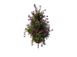 Outdoor flower pot arrangement 3d model