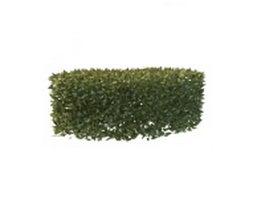 Garden curved hedge 3d model