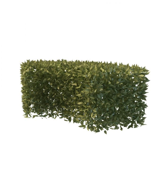 Garden Curved Hedge 3d Model 3ds Max Files Free Download