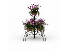 Nice metal flower pot stand 3d model