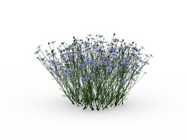 Flowering Grass Plants 3d Model 3ds Max Files Free