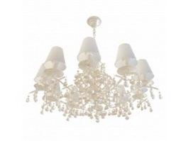 10 Arm chandelier 3d model