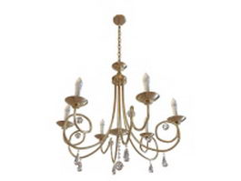 Candelabra chandelier 3d model