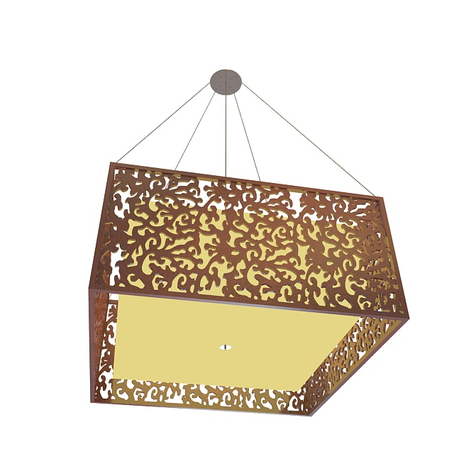 Square Pendant Light Fixture 3d Model 3ds Max Files Free