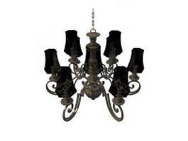 9-Arm chandelier 3d model