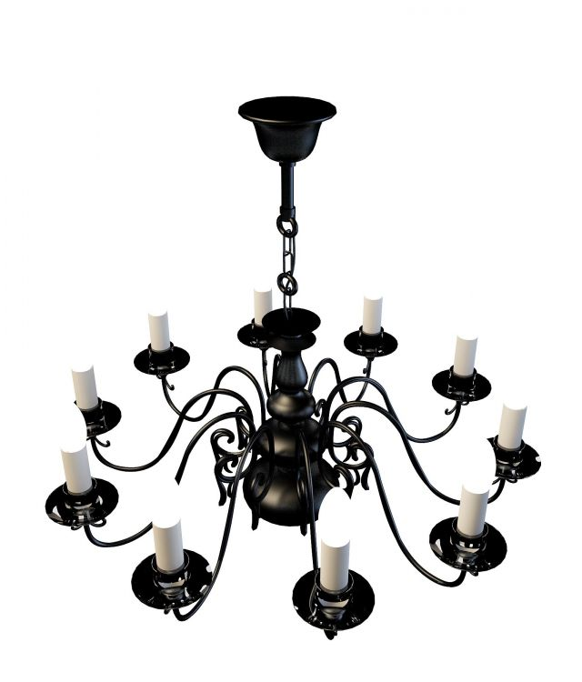 Black Chandeliers 3d Model 3ds Max Files Free Download
