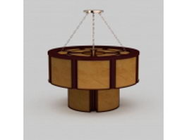 Japanese style pendant light 3d model
