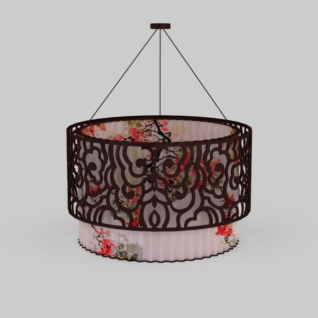 Chinese Pendant Lighting 3d Model 3ds Max Files Free