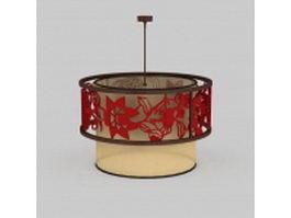 Drum pendant lighting 3d model