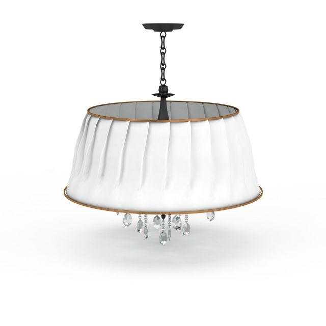 drum pendant with drop 3d model 3ds max files free. Black Bedroom Furniture Sets. Home Design Ideas