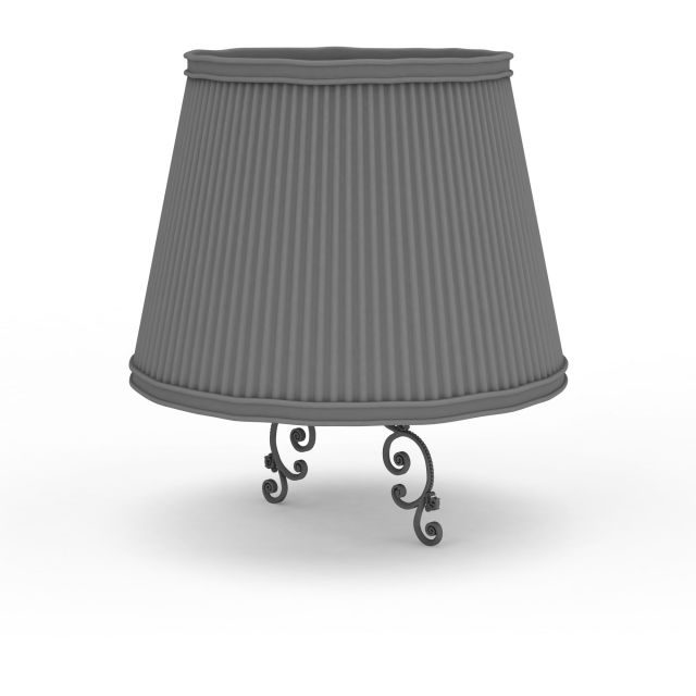 Traditional Lamp Shade 3d Model 3ds Max Files Free