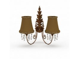 Vintage wall lights 3d model