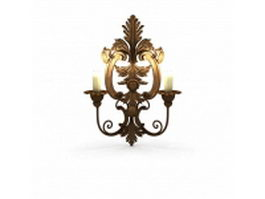 Bronze wall sconces 3d model