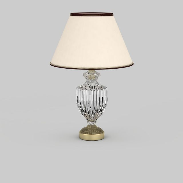 Urn Shaped Glass Table Lamp 3d Model 3ds Max Files Free