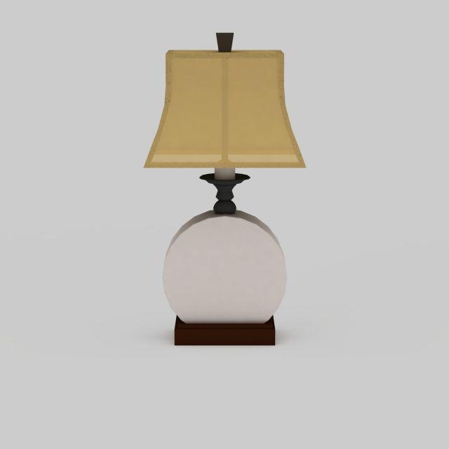 Ceramic Table Lamp 3d Model 3ds Max Files Free Download