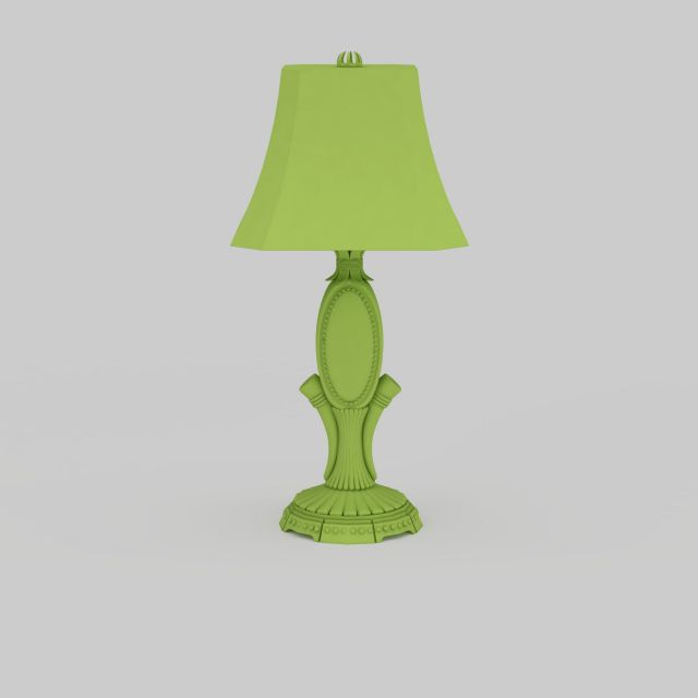 Green Table Lamp 3d Model 3ds Max Files Free Download