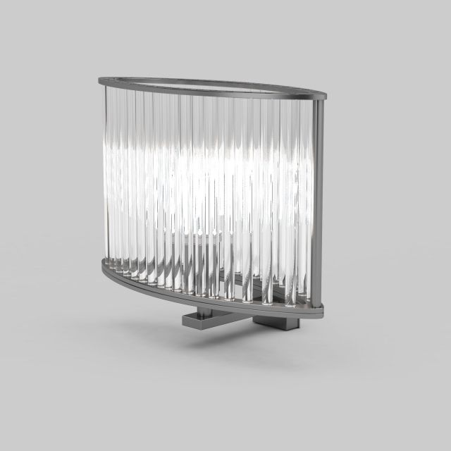Metal Wall Sconce Light Fixtures : Crystal wall light fixture 3d model 3ds max files free download - modeling 30613 on CadNav