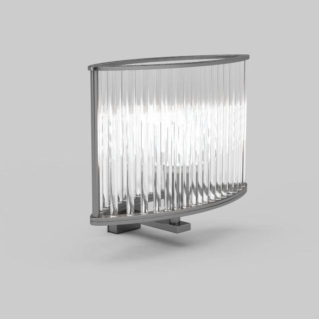 Crystal wall light fixture 3d model 3ds max files free download - modeling 30613 on CadNav