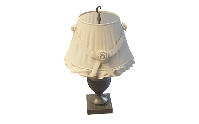 Trophy table lamp with lace shade 3d model 3ds max files free