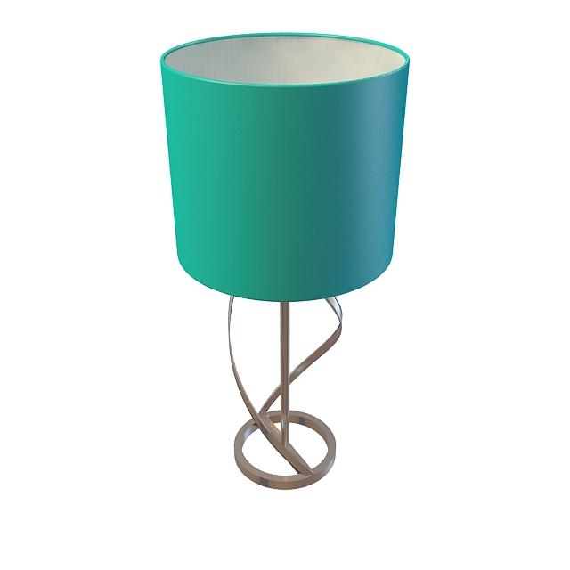 Blue drum table lamp 3d model