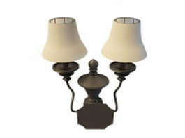 Antique wall lamp sconce 3d model