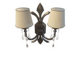 Bronze wall sconce 3d model