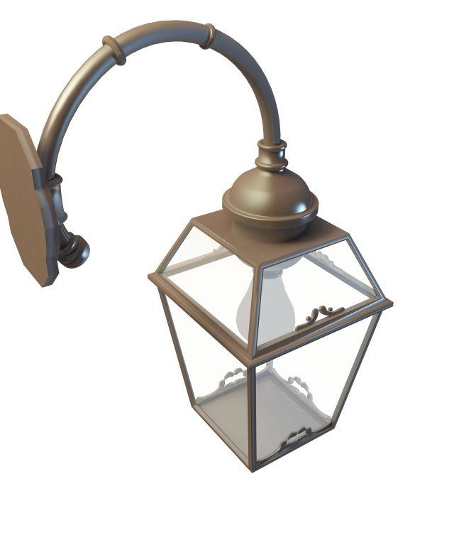 Outdoor wall lighting 3d model - CadNav