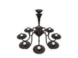 Drip pan chandelier 3d model