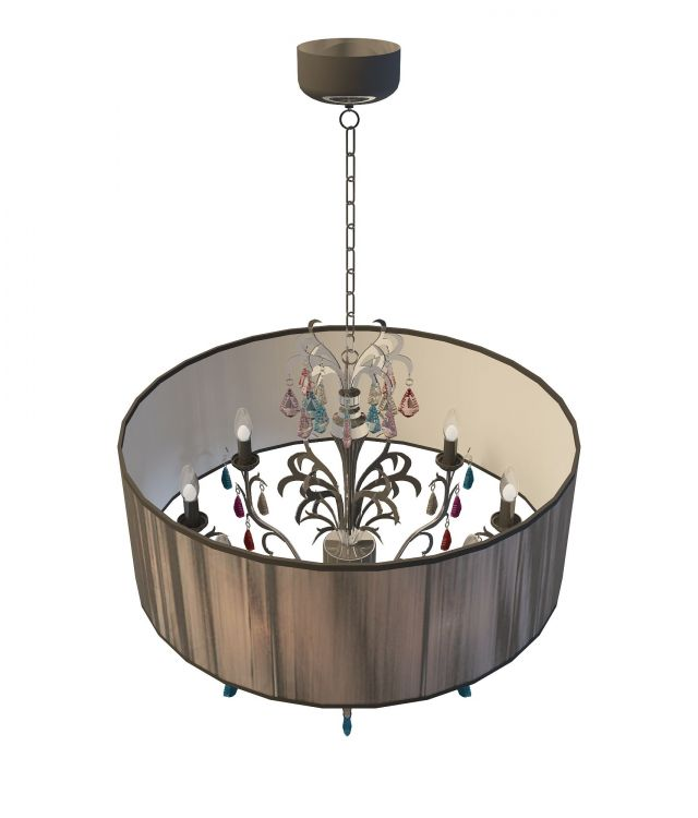 Drum Shade Chandelier 3d Model 3ds Max Files Free Download