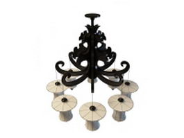 Venetian style chandelier 3d model