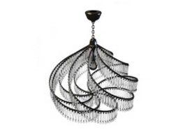 Modern crystal chandelier 3d model