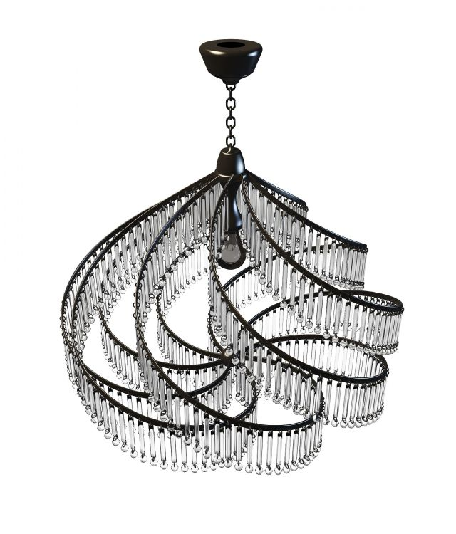 Modern crystal chandelier 3d model 3ds max files free download ...