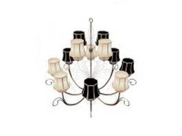 12 Arm chandeliers 3d model