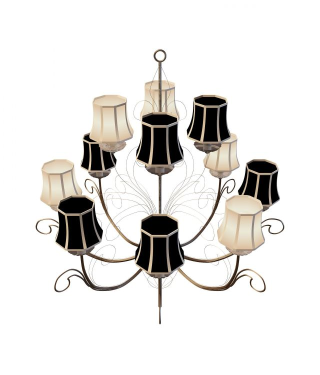 12 Arm Chandeliers 3d Model 3ds Max Files Free Download